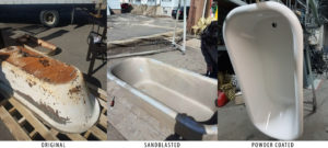 Cast Iron Tub - Sandblasted & Powdercoated