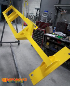 Aluminum weldment in Safety Yellow