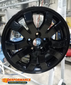 Car rims in Gloss Black